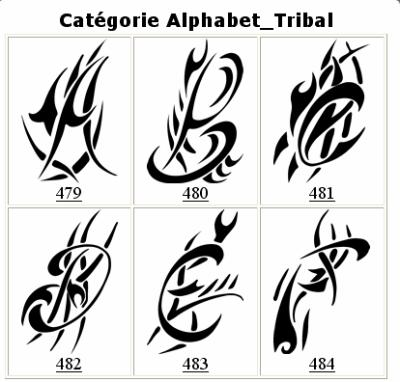 Tribal Alphabet Images images